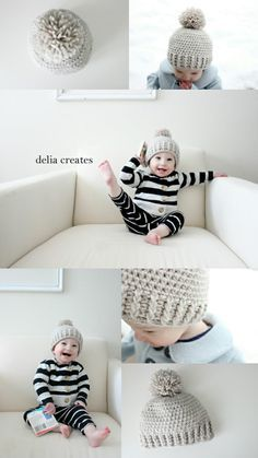delia creates  Crocheted Ribbed Beanie - Free Pattern  24d11d69a84