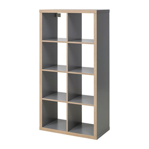 KALLAX Shelf unit, gray, wood effect Kallax shelf unit, Kallax - ikea regale kallax einrichtungsideen