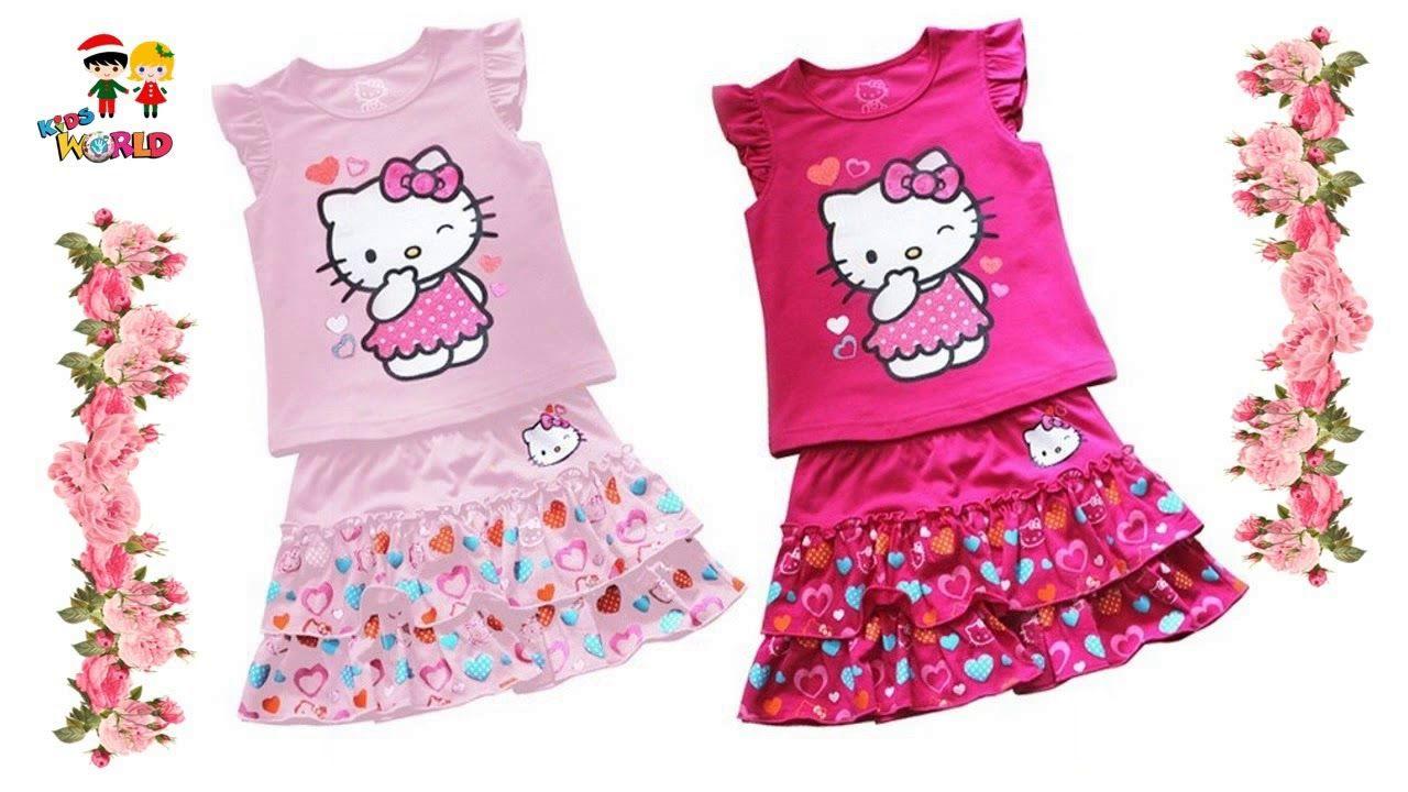 Sladatona Baby Girls Basic Cute Cartoon Princess Short Puff Sleeve Round Neck T-Shirt