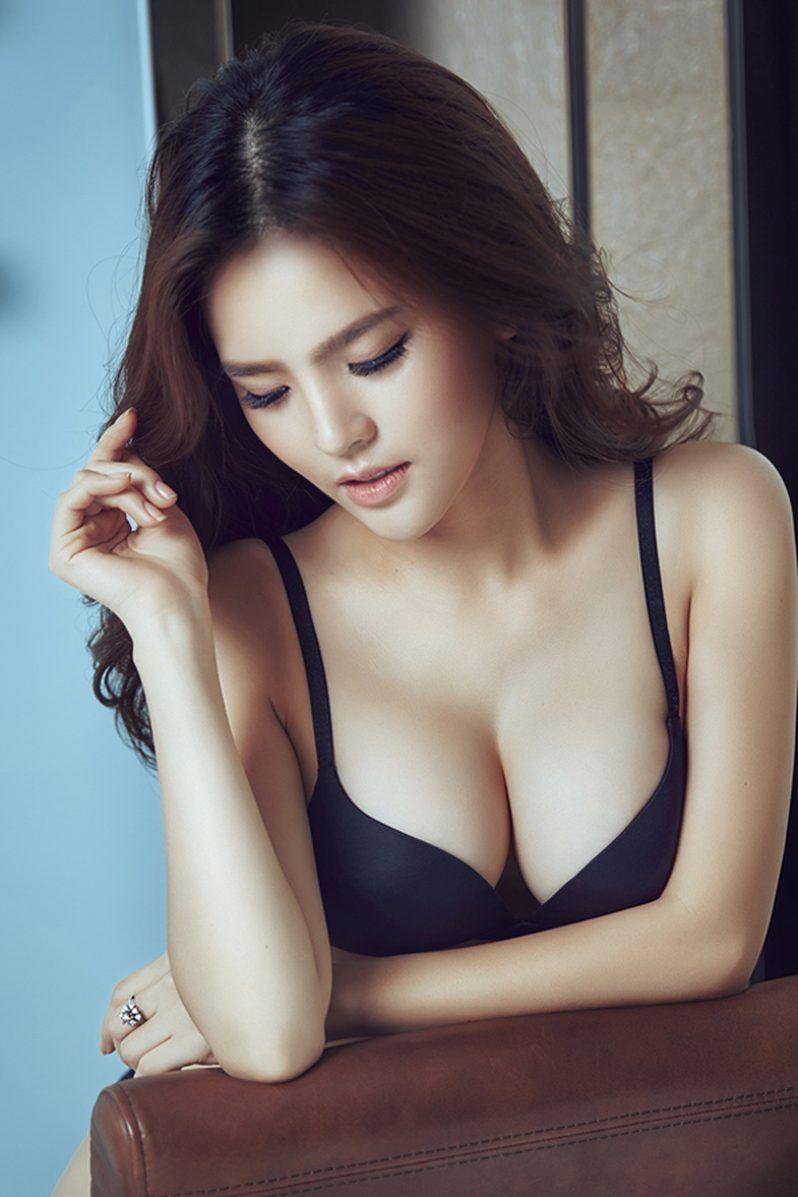 Sexy asian japanese beautiful model woman stock photo