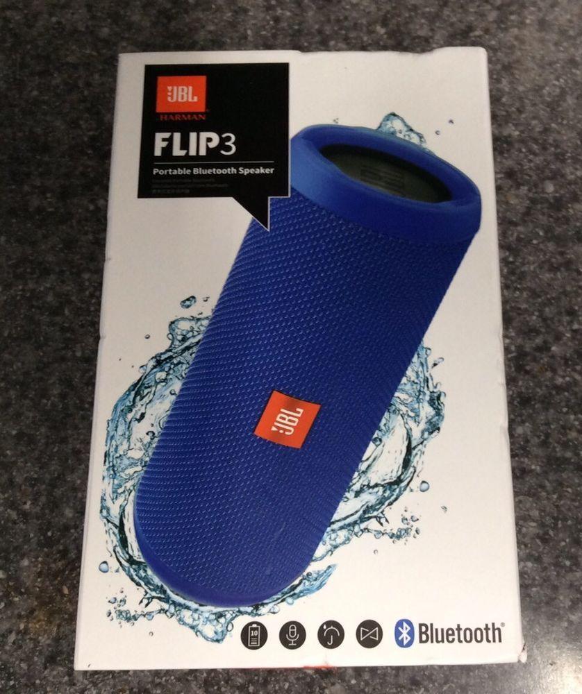 Jbl Flip 3 Splashproof Portable Bluetooth Speaker Blue Jbl Bluetooth Speakers Portable Portable Speaker System