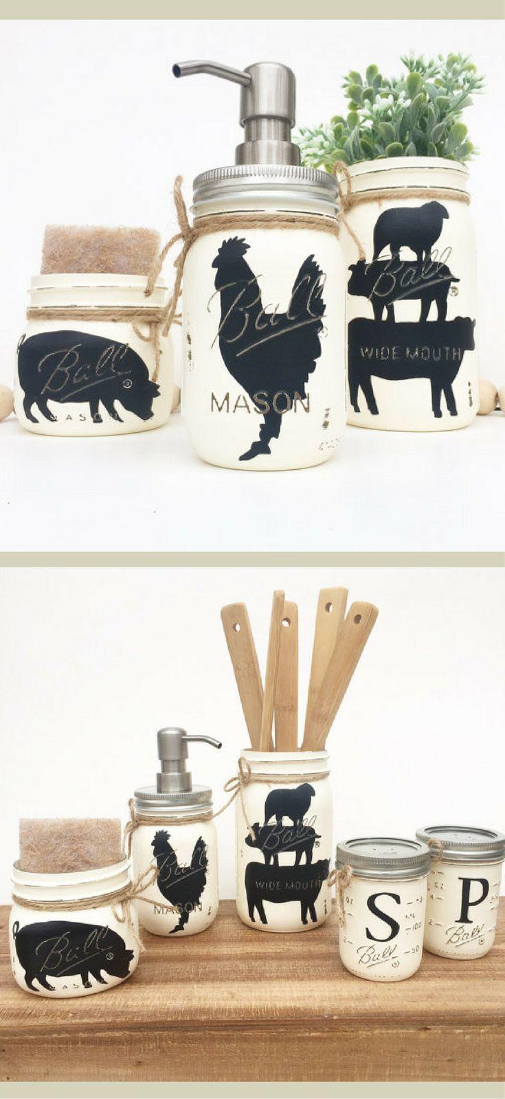 Farm Animal Kitchen Set, Farmhouse Kitchen, Rustic Kitchen, Kitchen ...