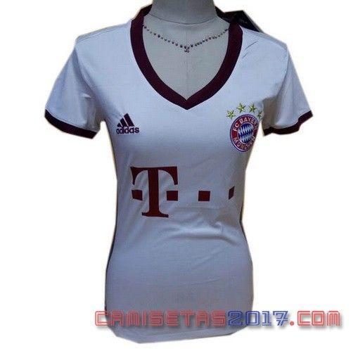 Camiseta mujer Bayern Munich 2016 2017 tercera  aead2e9b9ea9c