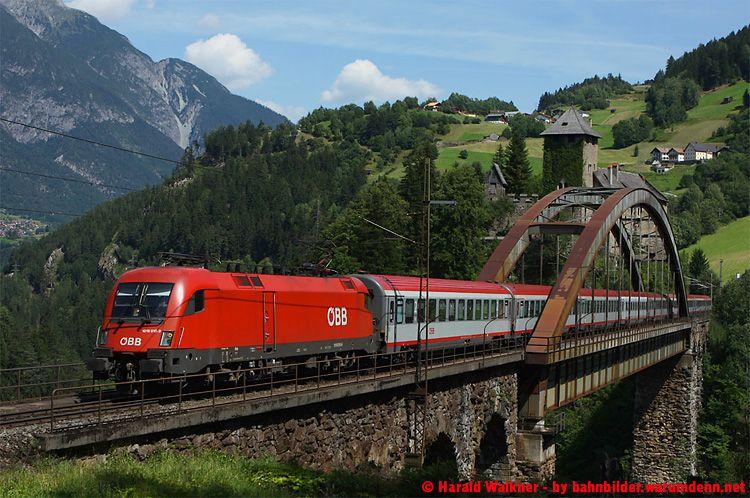 Trisanna Bridge, Vorarlberg, Austria in 2020 Eisenbahn