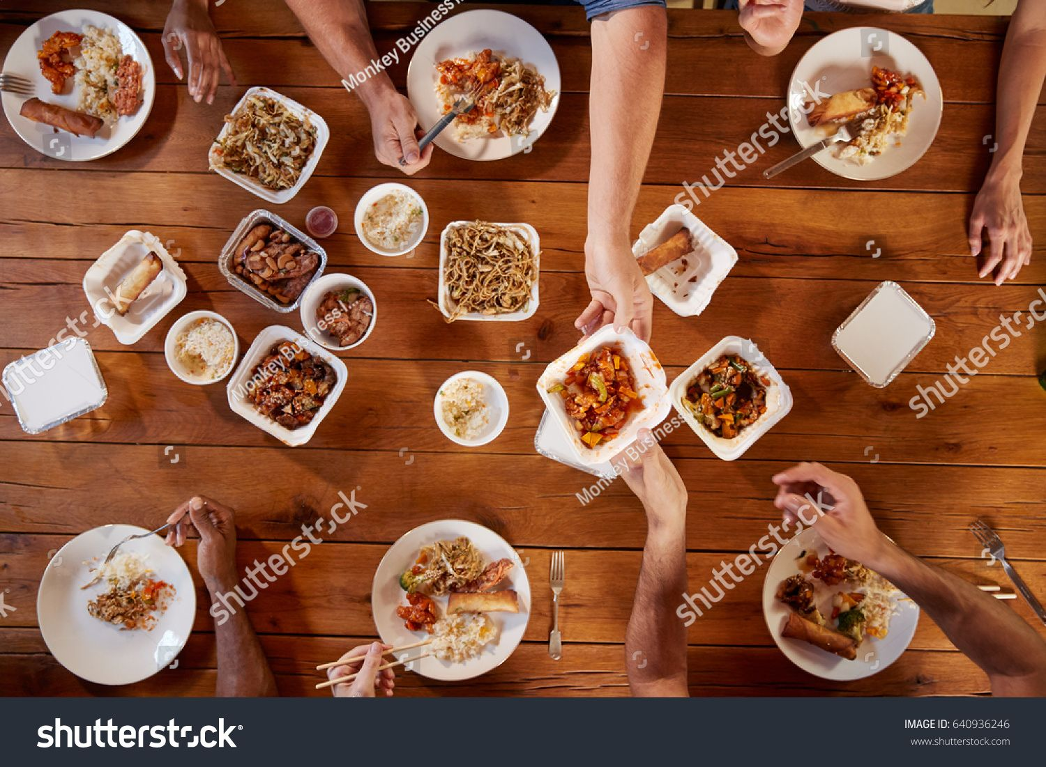 Friends At A Table Sharing Chinese Take Away Overhead View Ad Sponsored Sharing Table Friends View In 2020 Food Borne Illness Food Food Safety