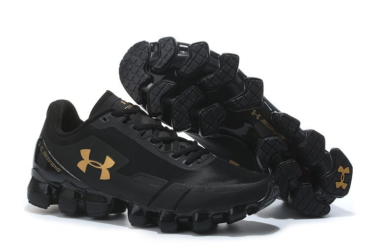 buy online d9fe6 63f16 Men s Under Armour UA Scorpio Running Shoes Black Gold