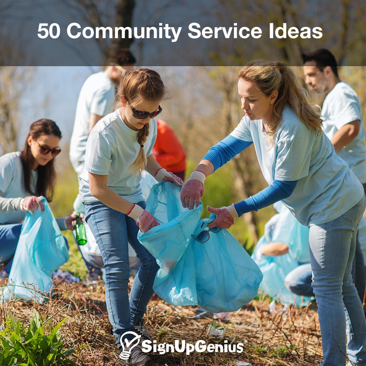 50 Community Service Ideas