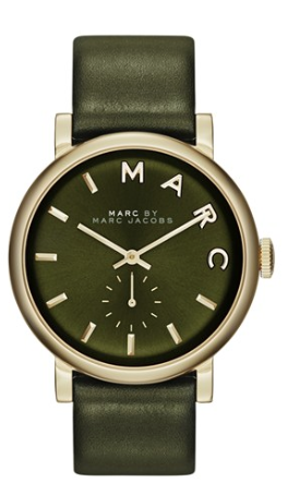 88167934c1b9 Marc by Marc Jacobs Women's Baker Olive Green Leather Strap Watch - Watches  - Jewelry & Watches - Macy's