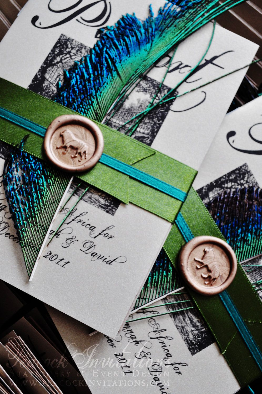 Wedding decorations with feathers  Why must I fall so in love with such expensive invitations