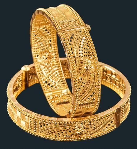 Designer Gold Bangles in Kolkata, West Bengal, India - M ...