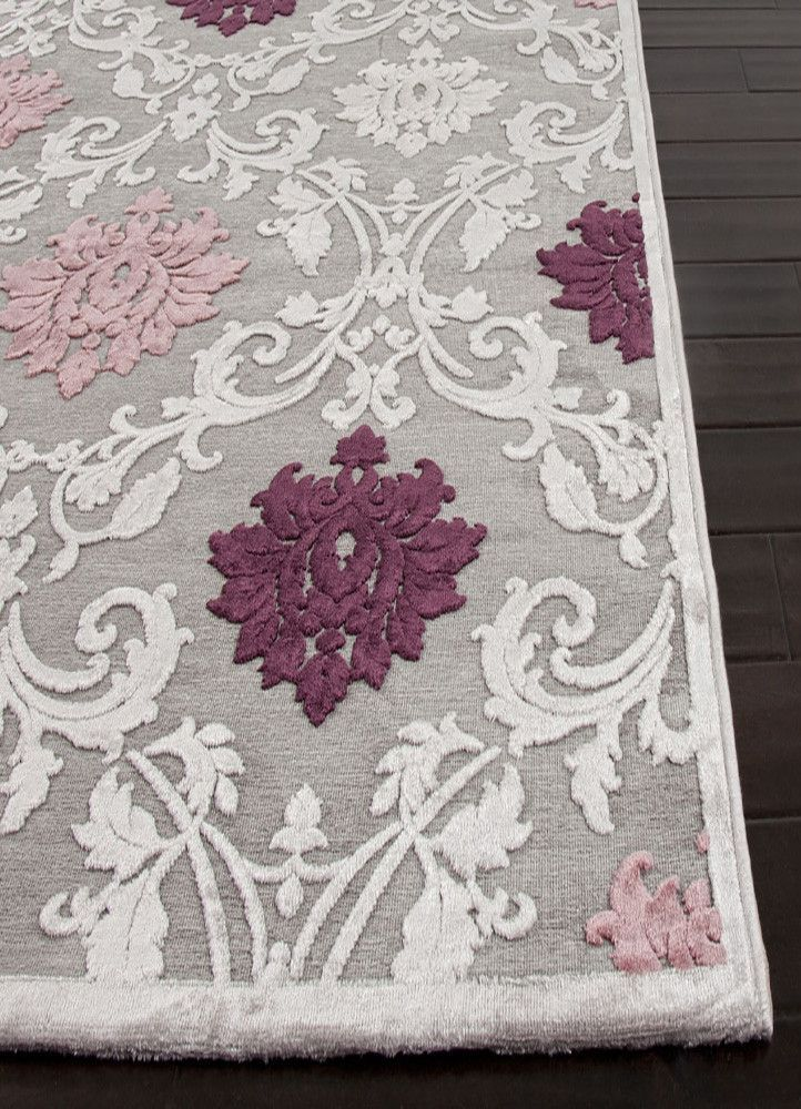Material Machine Made Art Silk Chenille A Clic Pattern Meets Modern Chic Color Scheme In The Exquisite Design Of Jaipur Fables Glamorous Rug