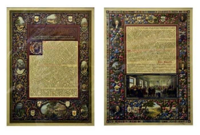 Found on EstateSales.NET: 2 Pieces Declaration of Independence, c. 1901