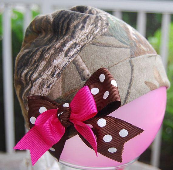Headband Redneck Deer Hunter Baby Infant Wedding Party Camouflage Camo Bow