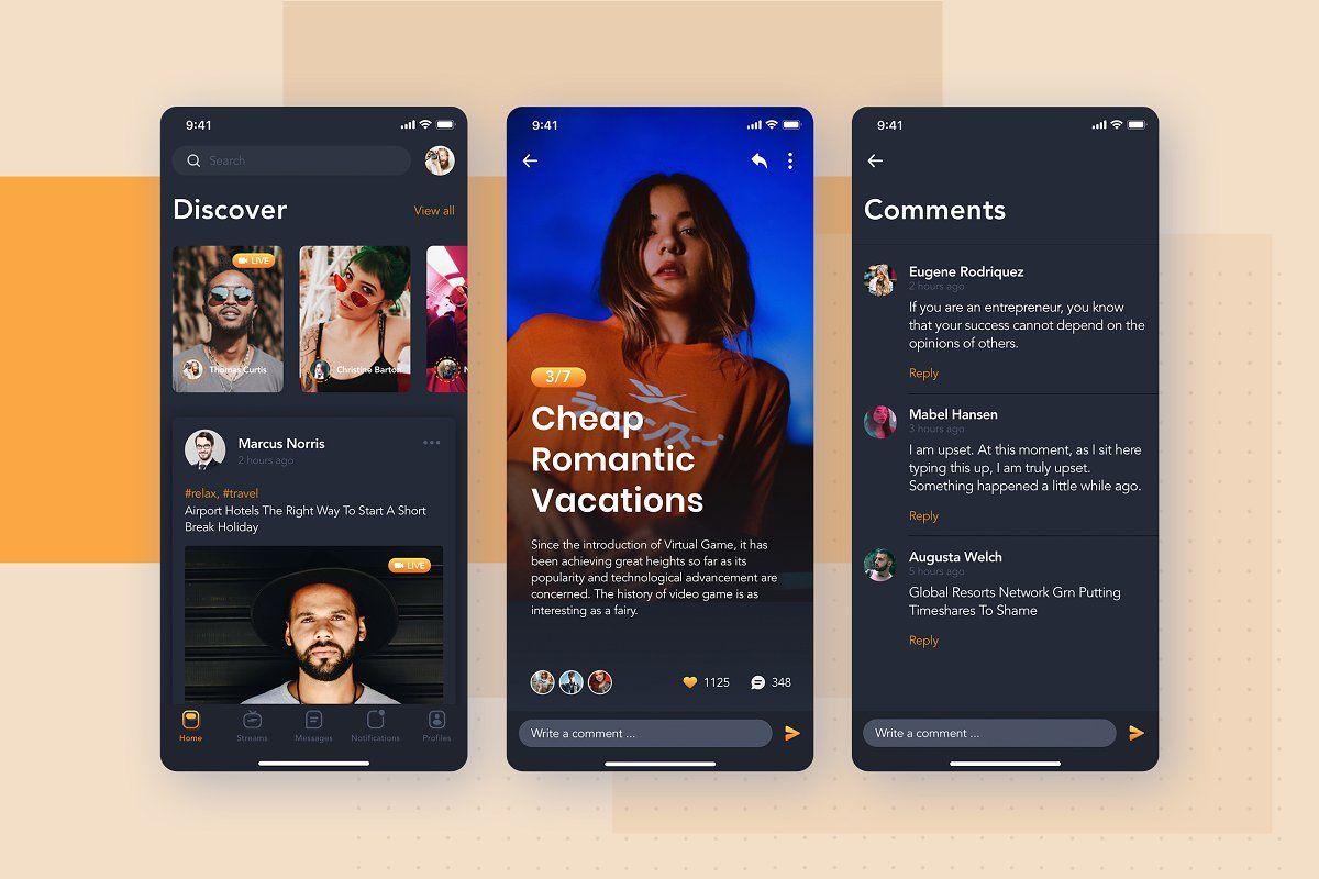 Social App for Livestreaming Video в 2020 г (с изображениями)