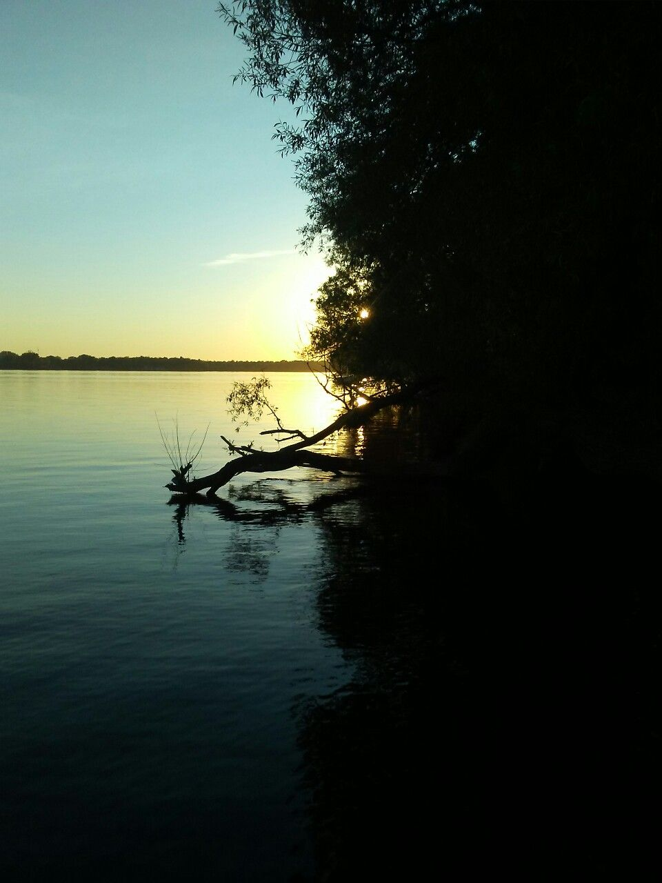 Sunset on Mississippi Lake, Ontario, Canada. Sunset