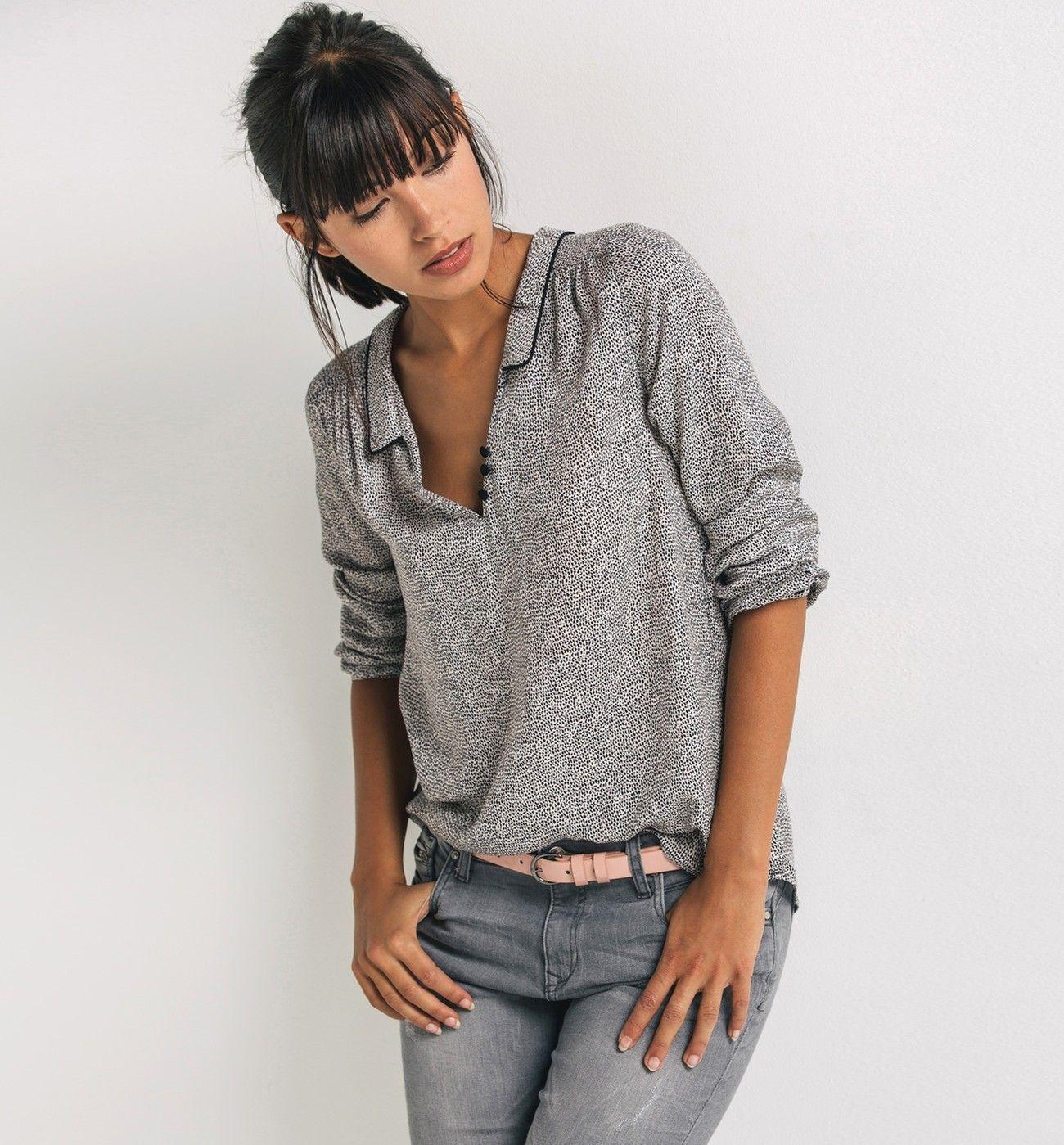 blouse imprim e femme imprim multicolore chemisiers tuniques femme promod. Black Bedroom Furniture Sets. Home Design Ideas