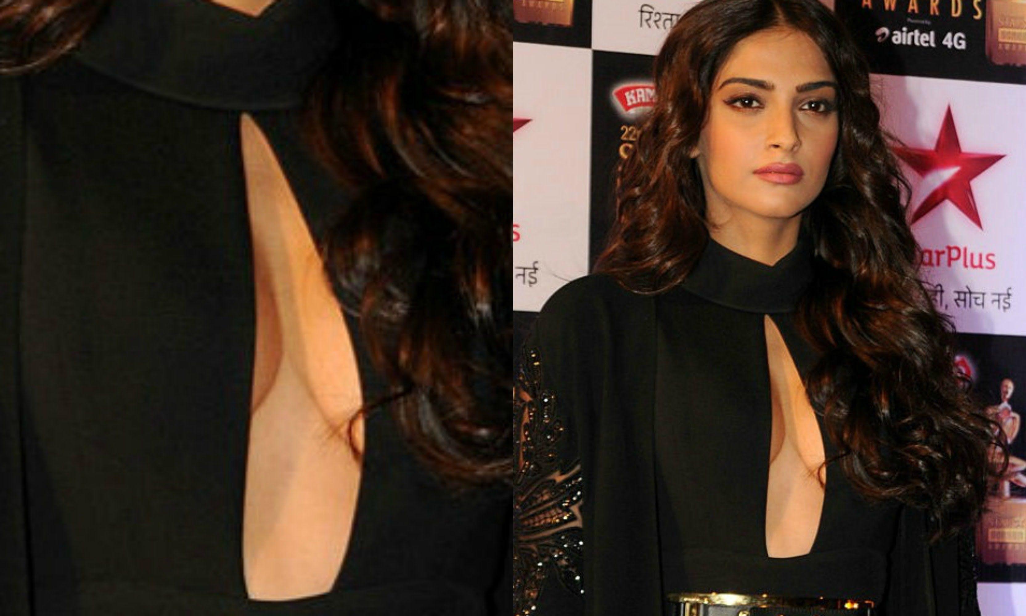 Sonam Kapoor Wardrobe Malfunction At Star Screen Awards 2016
