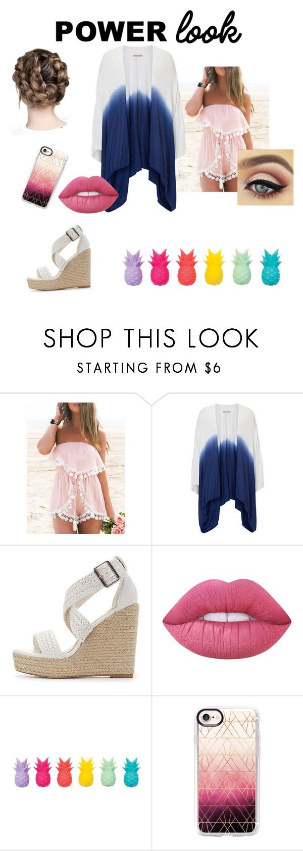 """Power look (contest)"" by people-are-annoying ❤ liked on Polyvore featuring Betty Barclay, Charlotte Russe, Lime Crime, Sunnylife and Casetify"