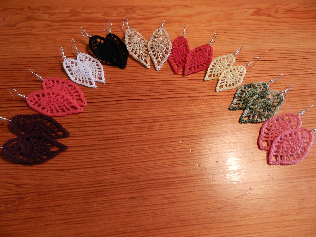 crochet earrings patterns free | Crochet Lace Leaf Earrings | HOOK ...