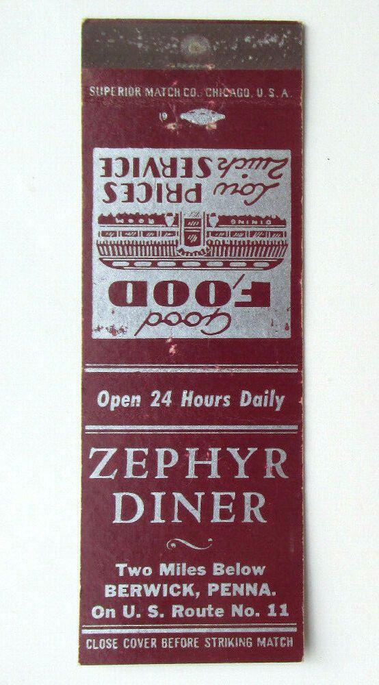 Zephyr Diner Berwick, Pennsylvania Restaurant 20 Strike