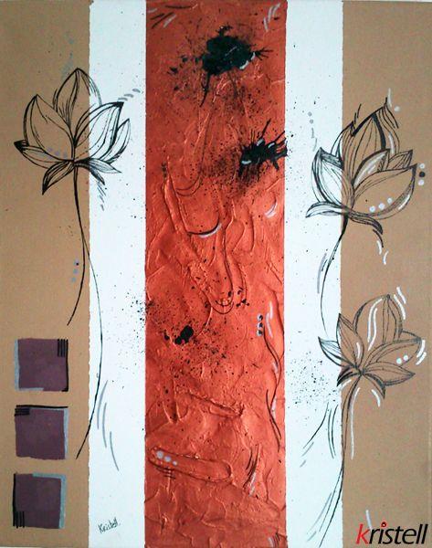 fleurs d 39 automne technique diverses acrylique encre de chine peinture rouille m tallis e et. Black Bedroom Furniture Sets. Home Design Ideas