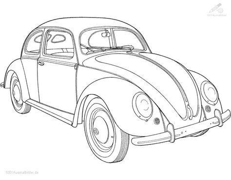 malvorlage volkswagen kafer | cars coloring pages, truck coloring pages, coloring pages