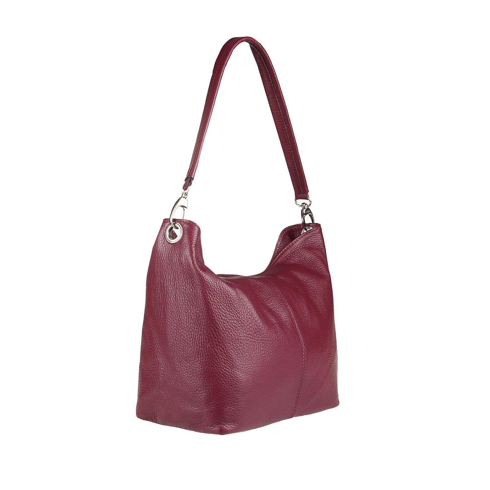 fe63ca6790b53 OBC Made in Italy DAMEN LEDER TASCHE SHOPPER Handtasche Hobo-Bags Schultertasche  Henkeltasche echt