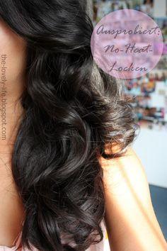über Nacht Locken No Heat Haarpflege Pinterest Locken