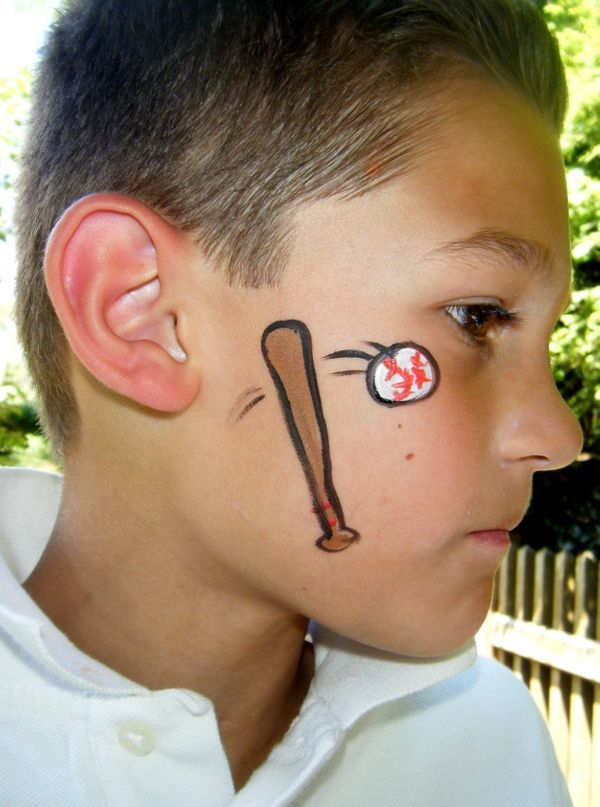 Boy Easy Face Painting Templates Face Paint Ideas