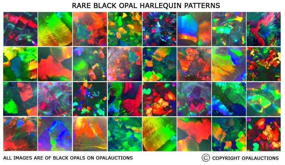 Help Black Opal Brightness And Pattern Charts Opals Black Opal