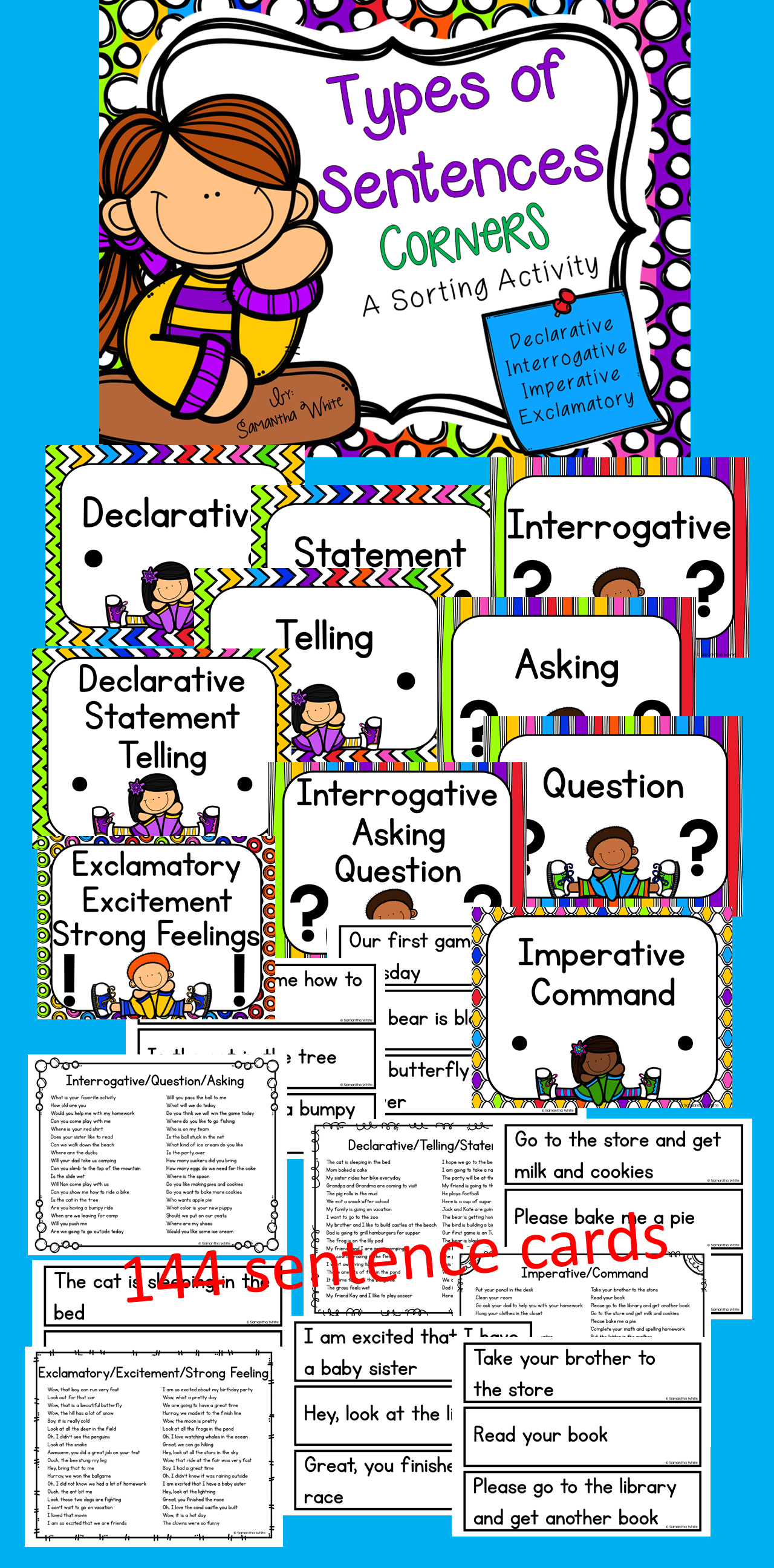 worksheet Declarative Imperative Interrogative Exclamatory Worksheets types of sentences corners activity activities and practice declarative interrogative exclamatory imperative with this sorting