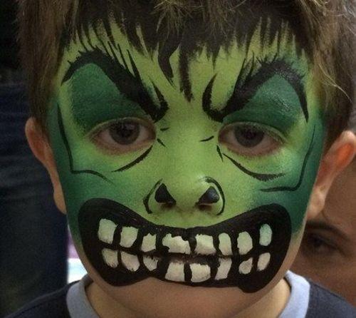 MAQUILLAJE-INFANTIL-DE-HULK1jpg (500×446) hulk Pinterest - maquillaje de halloween para nios
