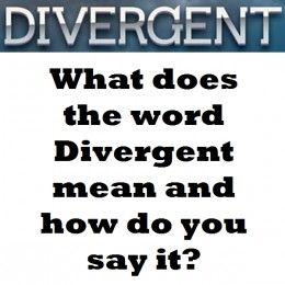 Wonderful The Divergent Definition And Pronunciation.