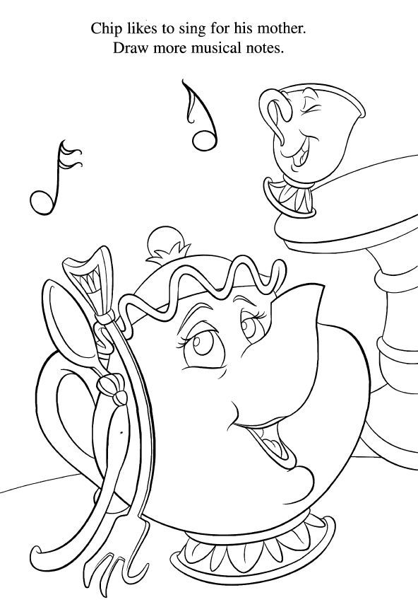 Beauty and the Beast, Coloring Page | Disney - Coloring Pages ...