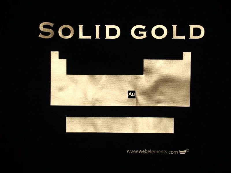 Periodic table shirt - solid gold (skinni-fit) Studio talk - new periodic table another name for group