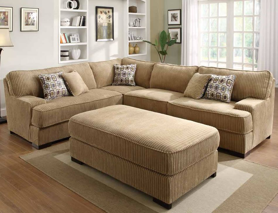 Corduroy Sectional Sleeper Section No Chaise Allows For Adjustment In Room Oversized