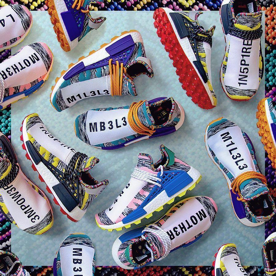 Pharrell Williams x Adidas Afro NMD Hu Trail SOLARHU Pack