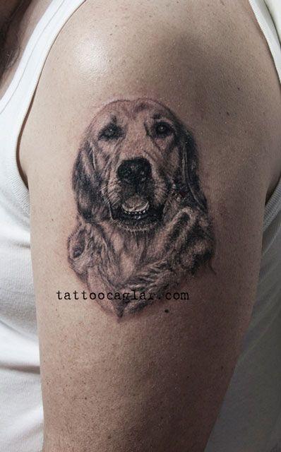 Shoulder Golden Retriever Tattoo Nápady Na Tetování Dog