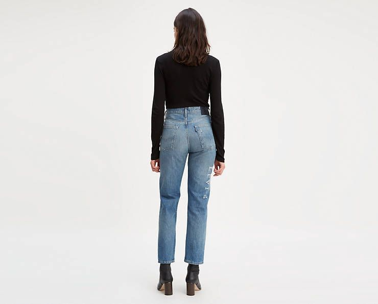 501 Original Fit Selvedge Crop Jeans Dark Wash Levi S Us Women Jeans Levi Cropped Jeans Women levis 501 straight fit blue jeans with 5 pocket styling. pinterest