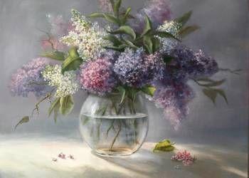 Bzy Kwiaty W Wazonie Obraz Olejny By Lidia Olbrycht Oil Painting Flowers Flower Painting Beautiful Art Paintings