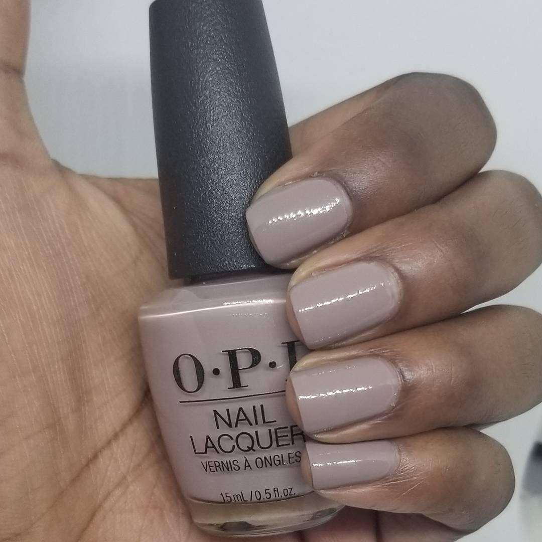 Opi Icelanded A Bottle Of Opi On Dark Skin Neutral Nail Polish