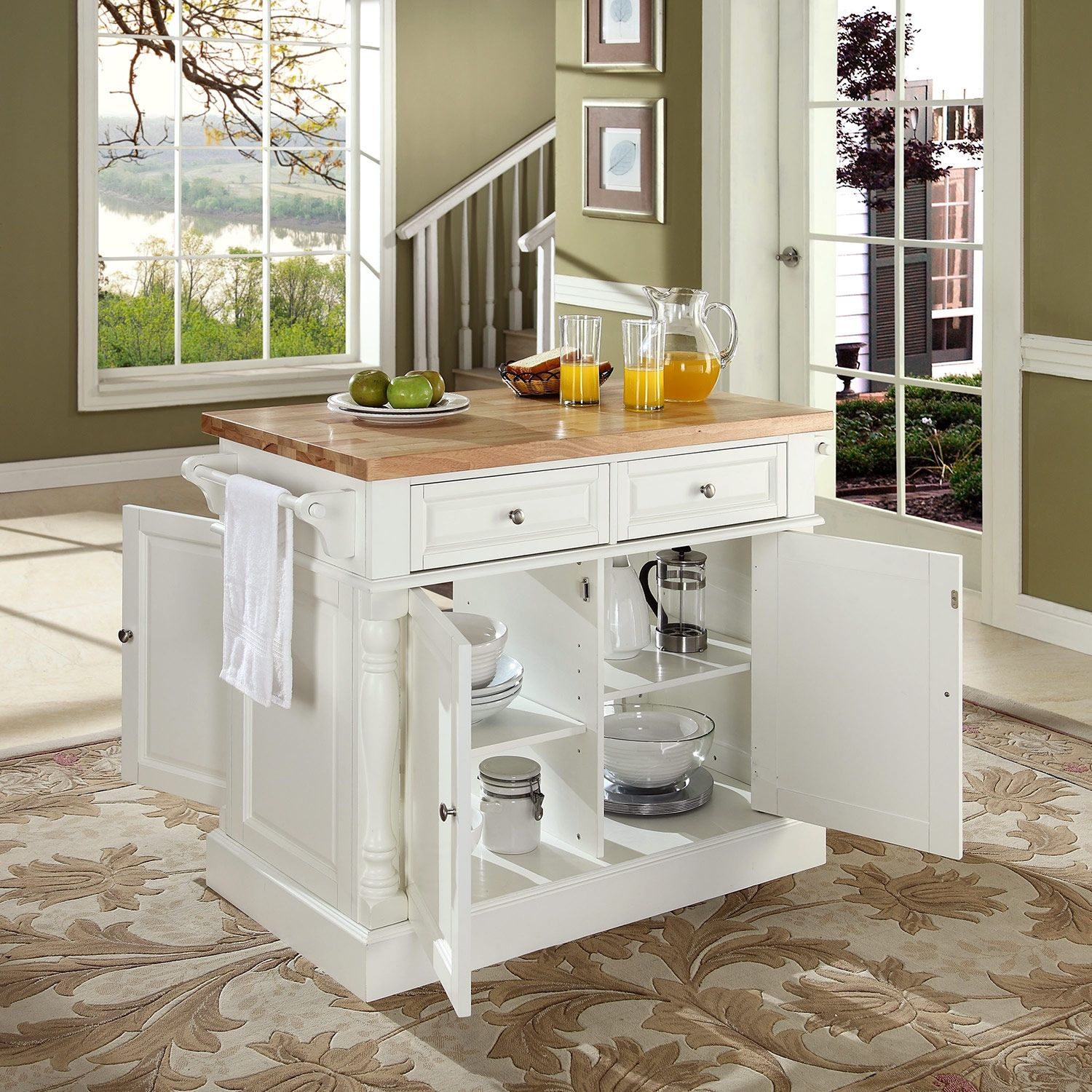 Griffin Kitchen Island - White | City furniture, Kitchens and Barbie ...