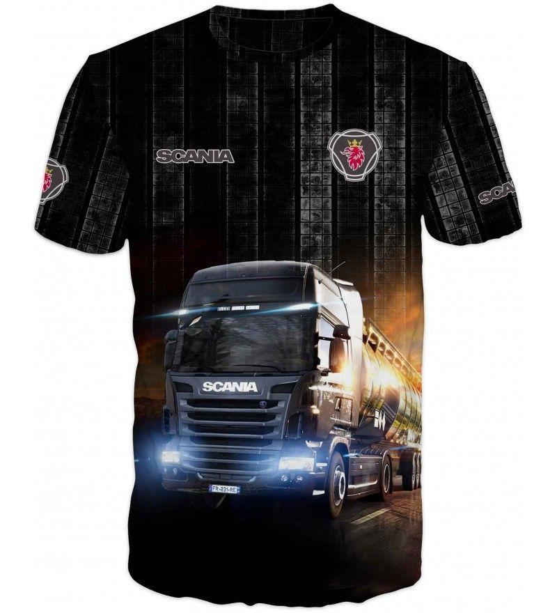 scania trucker lorry driver t shirt