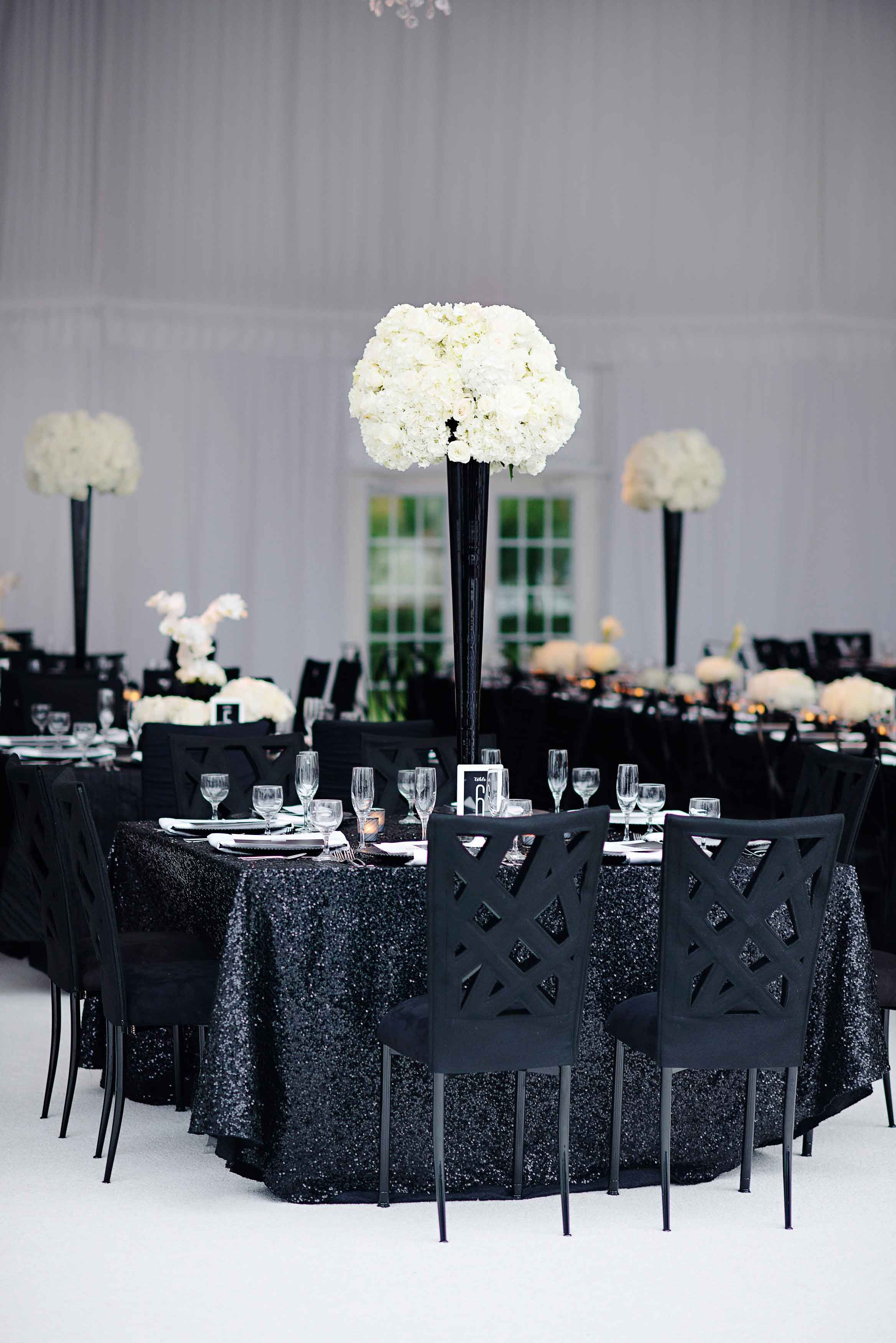 Inside Weddings Black And White Wedding Theme White Wedding Theme Black And White Centerpieces