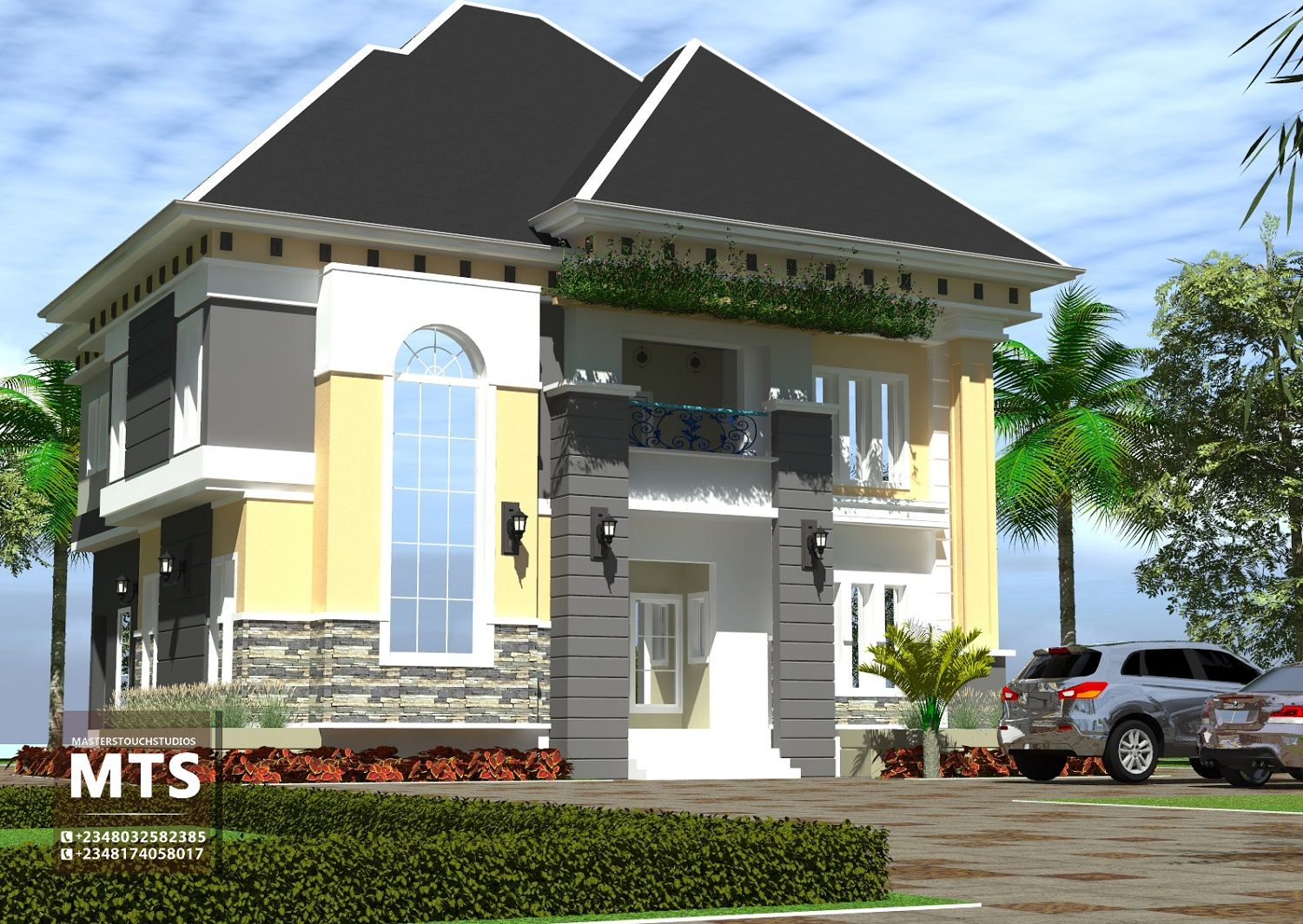 3 Bedroom Duplex Rf D3001 House Styles Duplex House Design Duplex Design