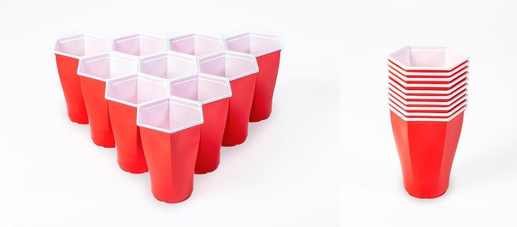 Hexagon Beer Pong Cups