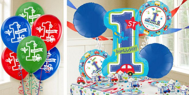 All Aboard 1st Birthday Balloons Party City balloonglobos