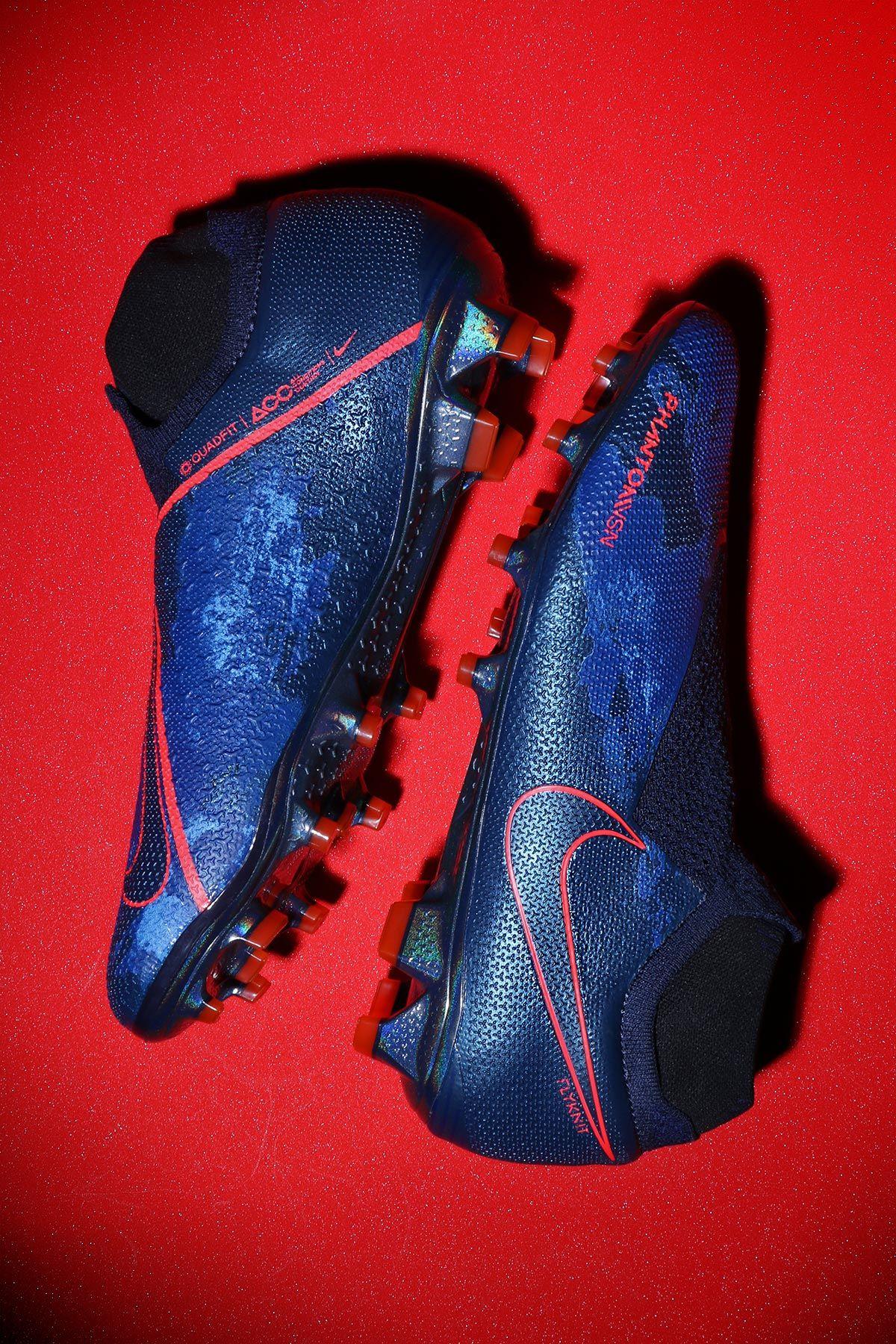 da66f72d31 📌Nike Phantom Vision Elite DF FG 🌩 Botas de fútbol Nike con tobillera MG para  césped natural y artificial de última generación - azules.