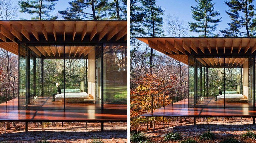 20 maisons en bois très déco Porticos - maison toit en verre