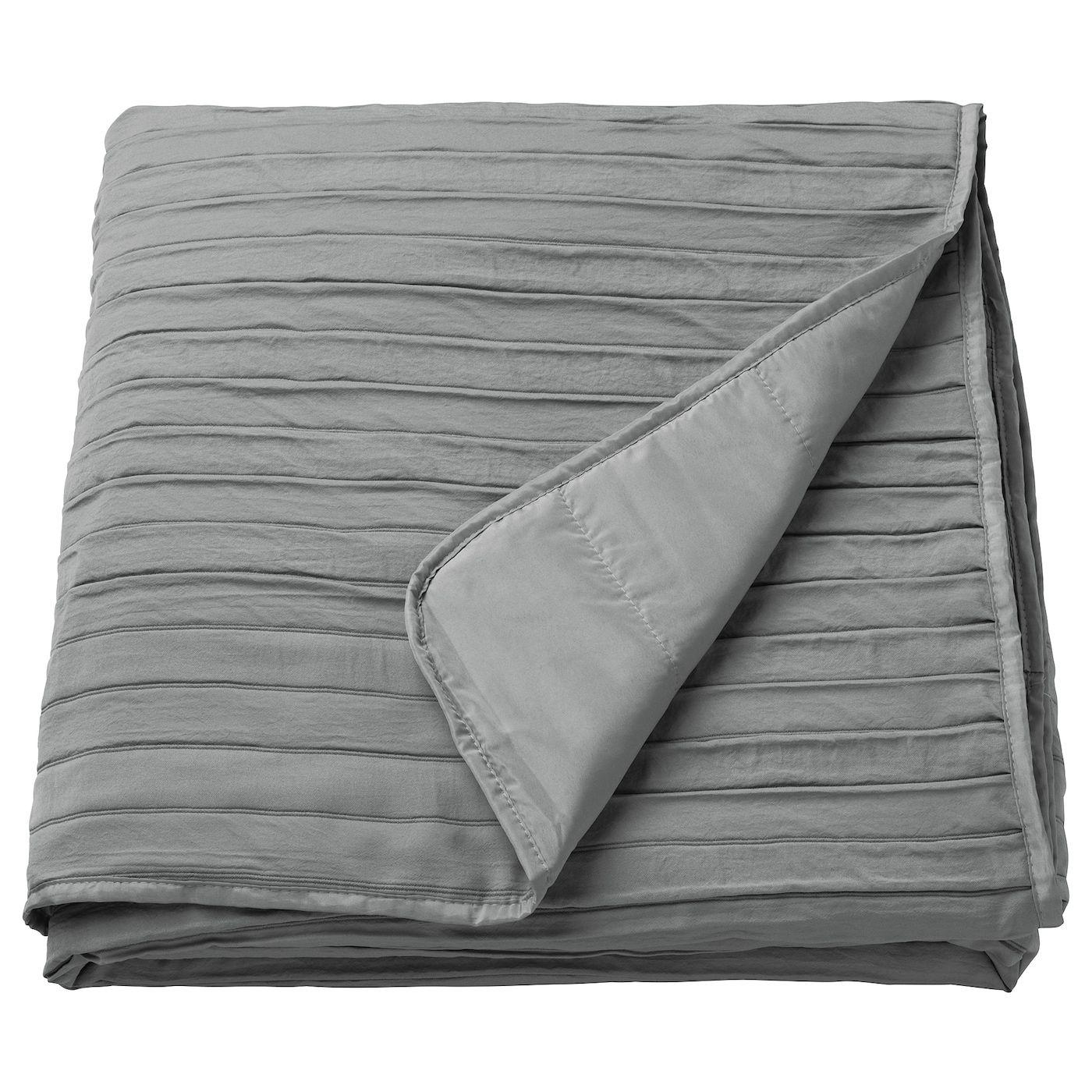 VEKETÅG Bedspread gray Twin/Full (Double) in 2020